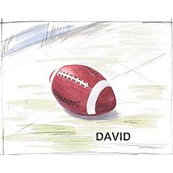 Personalized David's Football Canvas Art