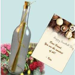 Sweetest Day Personalized Message In A Bottle