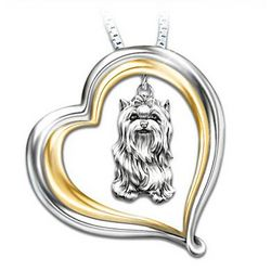 Loyal Companion Dog Lover Yorkie Pendant
