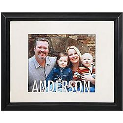 Personalized Name Cream Cut-Out Matte and Frame