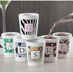 Personalized Monogram Designs Shot Glass for Her