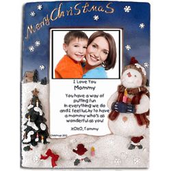 Merry Christmas Frame for Mom with Poem