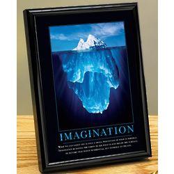 Imagination Iceberg Framed Desktop Print