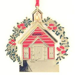 Engraved School House Ornament