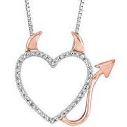Devil Diamond Heart Pendant