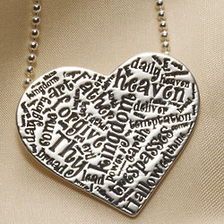 Lord's Prayer Sterling Silver Necklace