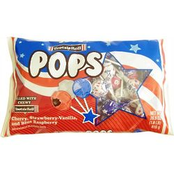 Red, White, and Blue USA Tootsie Pops