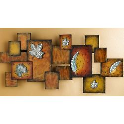 Abstract Leaves Metal Wall Hanging