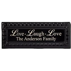Personalized Live Laugh Love Tin Wall Decor