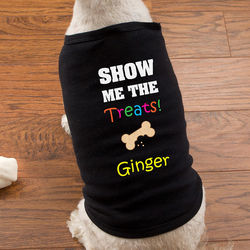 Show Me the Treats Personalized Pet Shirt