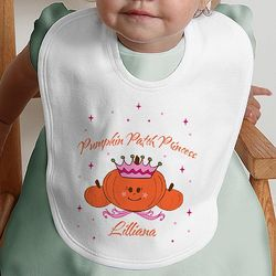 Pumpkin Princess Personalized Baby Bib