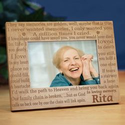 In Loving Memory Memorial Wood Picture Frame