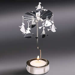 Flying Witches Spinning Tea Light Holder