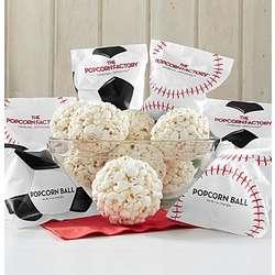 Popcorn Ball Baseballs or Soccer Balls