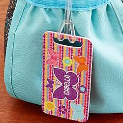 Girl's Personalized Little Traveler Luggage Tag