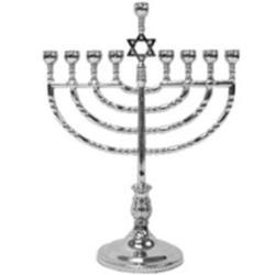 Rite Lite Judaica Polished Silvertone Menorah