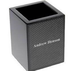 Carbon Fiber Look Pencil Cup