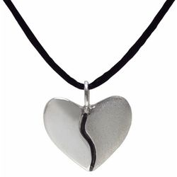 Sterling Silver Two-Tone Harmony Heart Pendant