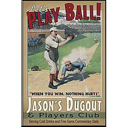 Personalized Vintage Baseball Pub Sign