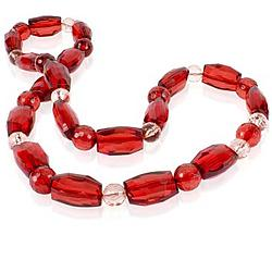 Love and Passion Red Faceted Bead Necklace