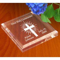 Personalized Holy Cross Keepsake & Paperweight
