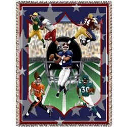 Football Team Tapestry Throw
