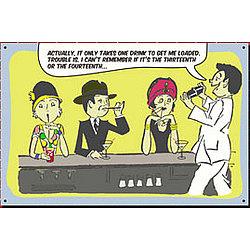 13th Martini Drinking Sign