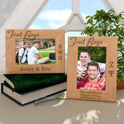 Personalized Frat Boys Wooden Picture Frame