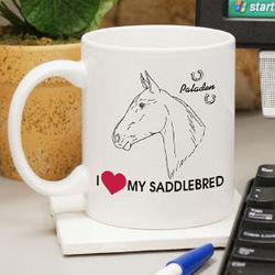 I Love My Horse Coffee Mug