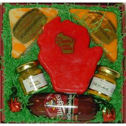 Wisconsin State Cheese and Sausage Gift Box