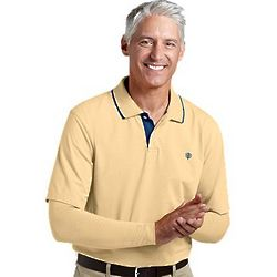 Men's Convertible Golf Polo with Removable Sleeves and UPF