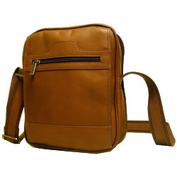 Men's Tan Leather Day Bag