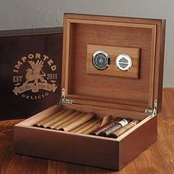 Cedar Lined Cigar Humidor