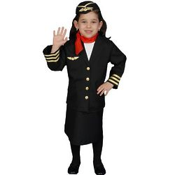 Girl's Flight Attendant Costume