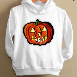 Personalized Glow in the Dark Pumpkin Hoodie
