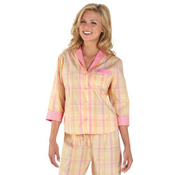Sorbet Plaid Boyfriend Pajamas