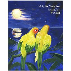 Evening Love Birds Personalized Print
