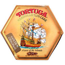 16 oz Tortuga Original Golden Walnut Rum Cake