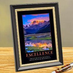 Excellence Mountain Framed Desktop Print