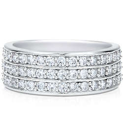 Sterling Silver Cubic Zirconia Half Eternity Ring