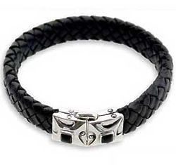Men's Romeo Onyx and Leather Bracelet