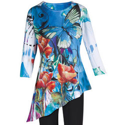 Bold Butterfly Asymmetrical Tunic