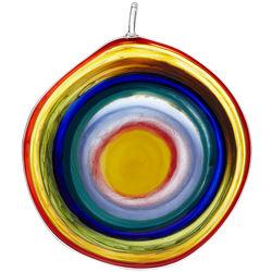 Bullseye Glass Suncatcher