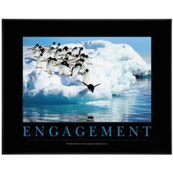 Engagement Penguins Motivational Poster
