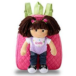 Personalized Hispanic Rag Doll Backpack