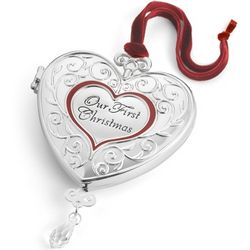 Our First Christmas Locket Ornament