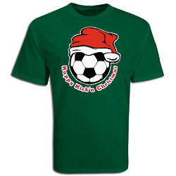 Youth's Happy Kick'n Christmas Soccer T-Shirt
