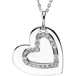 Mother and Son Heart Necklace
