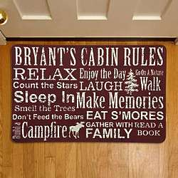 Personalized Cabin Rules Doormat