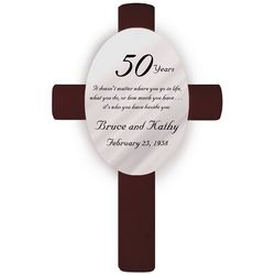 Personalized Beside You 50th Anniversary Cross